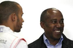 Lewis Hamilton, McLaren Mercedes with father Anthony Hamilton