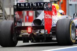 Sebastian Vettel, Red Bull Racing rear diffuser detail