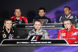 The FIA Press Conference, Marussia Racing; Toni Cuquerella, Hispania Racing F1 Team, Technical Direc
