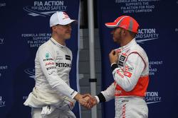 Michael Schumacher, Mercedes AMG F1 y Lewis Hamilton, McLaren Mercedes