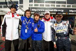 GT300 pole winners Kyosuke Mineo and Naoki Yokomizo