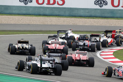 Pastor Maldonado, Williams en Bruno Senna, Williams bij de start