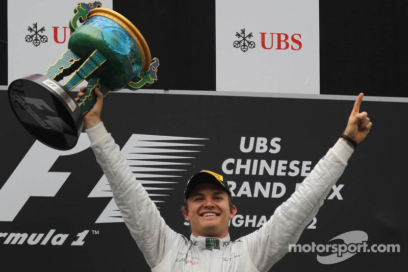 Ganador de la carrera Nico Rosberg, Mercedes AMG Petronas