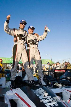 Race winners Lucas Luhr, Klaus Graf