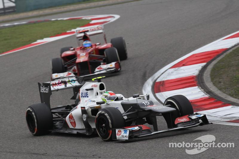 Sergio Perez, Sauber F1 Team voor Fernando Alonso, Scuderia Ferrari