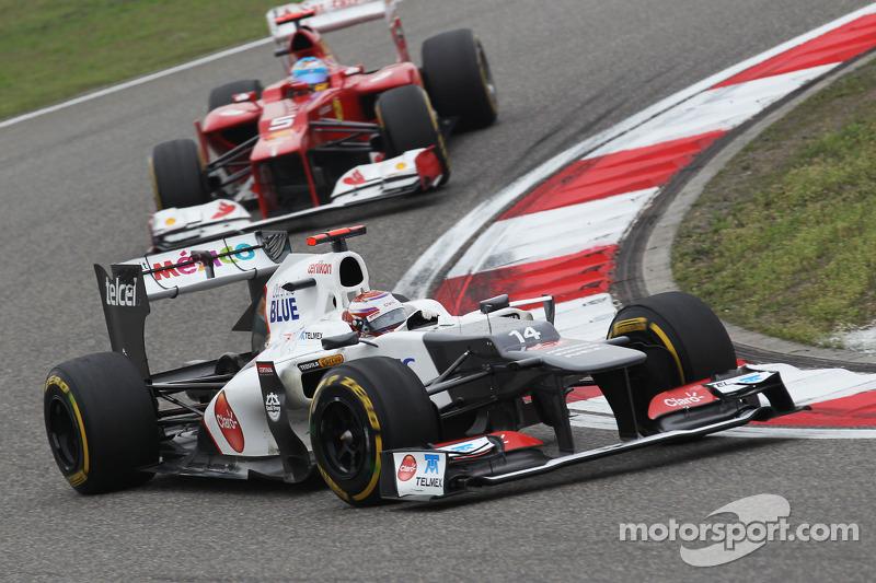 Kamui Kobayashi, Sauber voor Fernando Alonso, Ferrari