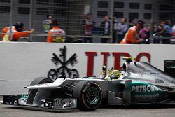 Sieger Nico Rosberg, Mercedes AMG F1 feiert