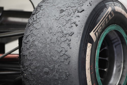 The tyre of Nico Rosberg, Mercedes AMG Petronas
