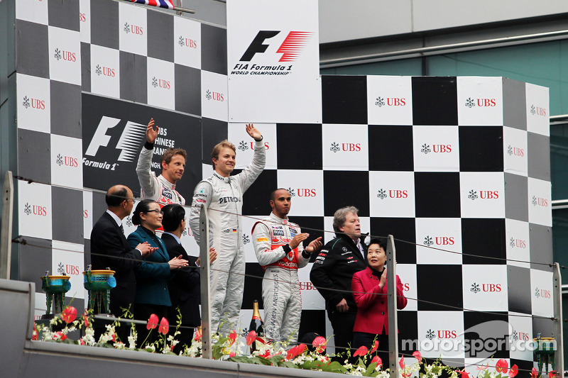 6 (2012) GP de China Primer lugar