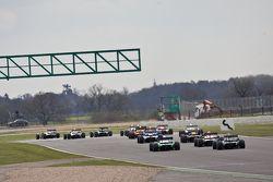 f2 cars head towards becketts