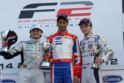 Podium from left: Mihai Marinescu, Luciano Bacheta and Alex Fontana