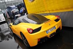 Who does this Ferrari 458 Italia belong to?