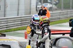 Winnaar Maxime Martin en derde plaats Anthony Kumpen