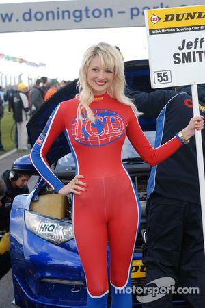 Pirtek Racing Grid Girl to Jeff Smith