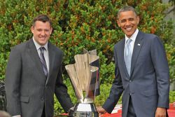Tony Stewart with President Barack Obama
