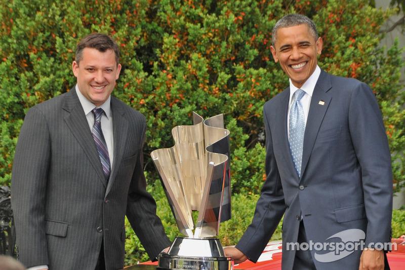 Tony Stewart with President Barack Obama