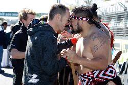 Greg Murphy with a Maori warrior