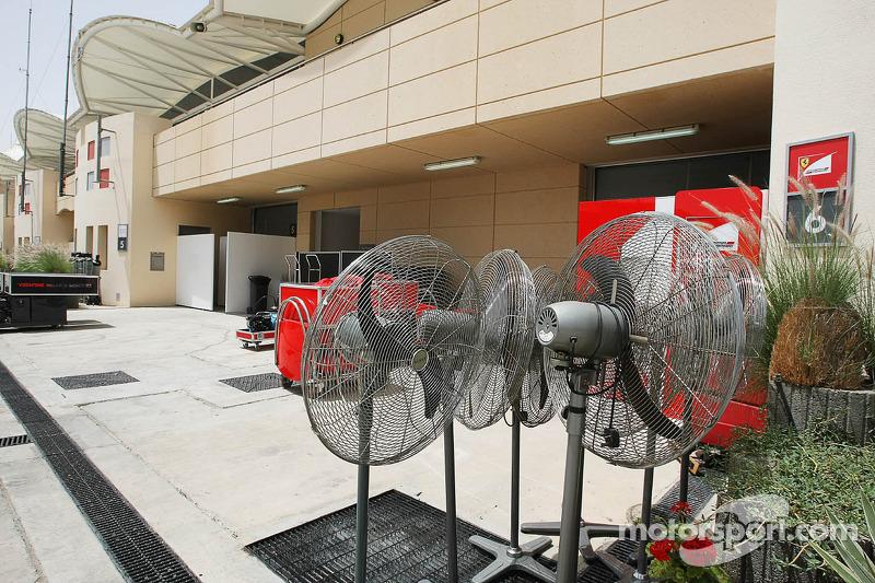 Ventilatie voor Ferrari team