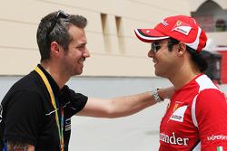 Tiago Monteiro, with Felipe Massa, Scuderia Ferrari