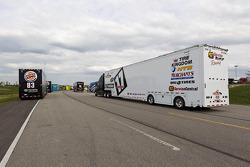 Truck haulers with Landon Cassill's hauler