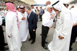 Jean Todt, FIA President and Bernie Ecclestone, FOM