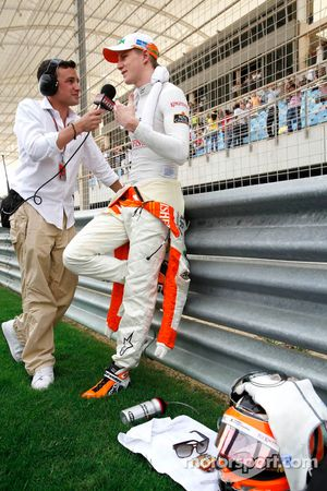 Nico Hulkenberg, Sahara Force India Formula One Team and Will Buxton, Speed TV