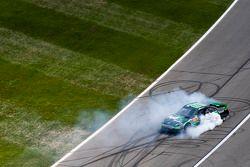 Race winner Denny Hamlin, Joe Gibbs Racing Toyota celebrates