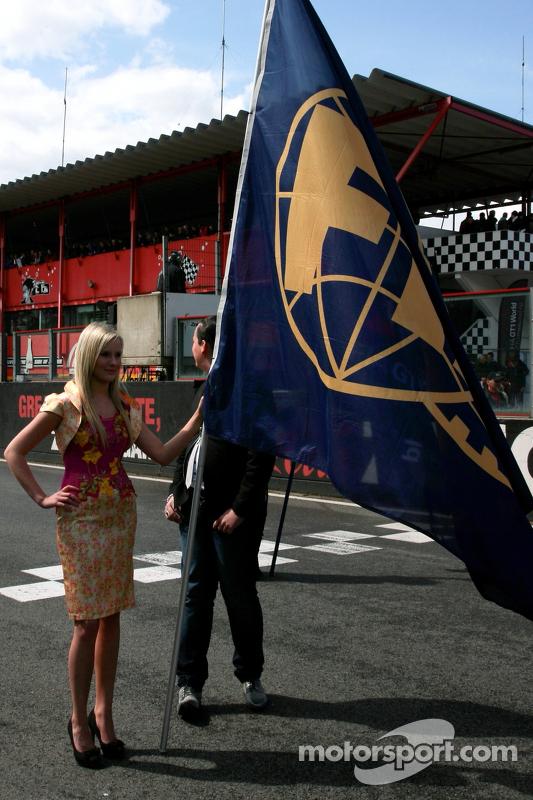 Unfurling the FIA flag