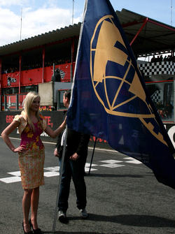 Unfurling the FIA flag