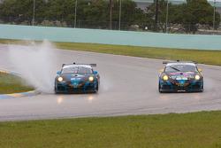 #67 TRG Porsche GT3: Steven Bertheau, Spencer Pumpelly; #68 TRG Porsche GT3: Jeroen Bleekemolen, Emilio Di Guida