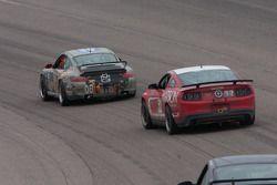 #08 Rebel Rock Racing Porsche 997: Jim Jonsin; #52 Rehagen Racing Ford Mustang GT: Dean Martin, Bob