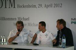 Norbert Haug, Sporting Director Mercedes-Benz with Michael Schumacher, Mercedes Grand Prix