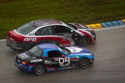 #181 APR Motorsport Volkswagen Jetta: Hector Guerrero, Juan Pablo Sierra, #04 CJ Wilson Racing Mazda