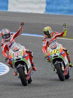 Nicky Hayden and Valentino Rossi, Ducati Marlboro Team