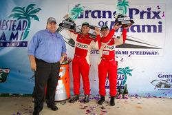 GT podium: class winners Emil Assentato and Jeff Segal