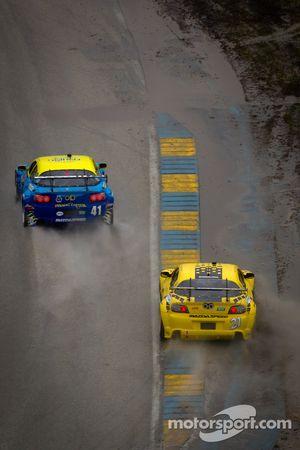#41 Dempsey Racing Mazda RX-8: Charles Putman, Charles Espenlaub and #21 M2 Autosport Mazda RX-8: Se