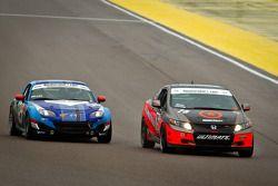 #75 Compass360 Racing Honda Civic SI: Ryan Eversley, Ray Mason, #04 CJ Wilson Racing Mazda MX-5: Bru