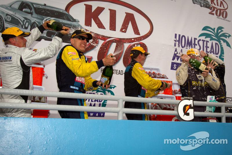GS podium: champagne