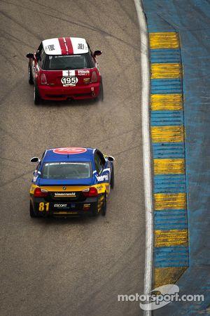 #195 RSR Motorsports Mini Cooper S: Chris Puskar, Mark Congleton, #81 BimmerWorld Racing BMW 328i: D