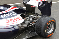 Williams rear suspension and rear wing