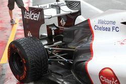 Welkom Chelsea op de Sauber F1 van Kamui Kobayashi