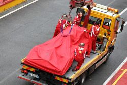 Fernando Alonso, Scuderia Ferrari, arrêté en piste