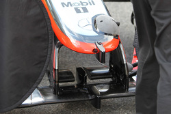 Mclaren testing parts on front wing