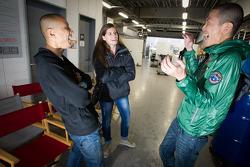 Hideki Noda, Cyndie Allemann and Frank Yu share a laugh