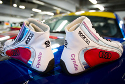 Cyndie Allemann's new personalized racing shoes
