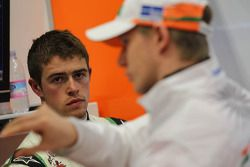 Paul di Resta, Sahara Force India Formula One Team y Nico Hulkenberg, Sahara Force India Formula One