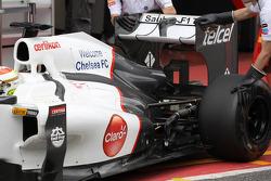 Sergio Pérez, Sauber F1 Team con un sistema F-Duct en el exterior de la carrocería