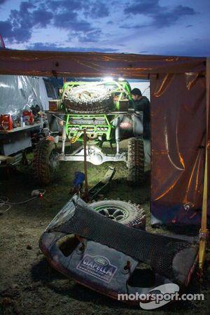 Malta's Ciapella team working into the night