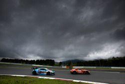 #66 A Speed Aston Martin V8 Vantage: Hiroki Yoshimoto, Kazuki Hoshino, #21 Hitotsuyama Racing Audi R