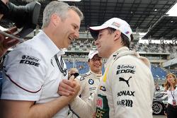 Jens Marquardt, BMW-Motorsportdirektor; Augusto Farfus, BMW Team RBM, BMW M3 DTM